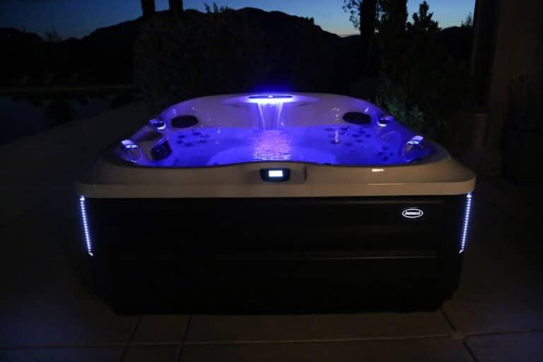 Jacuzzi Hot Tub night time LED lights