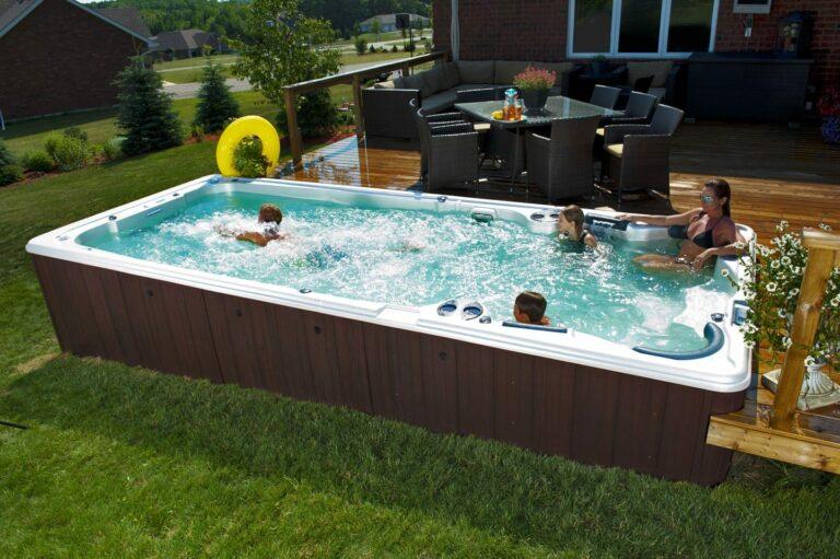 Hydropool Swim Spa family play