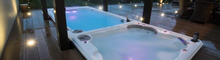 Hydropool Swim Spa with LED Lights
