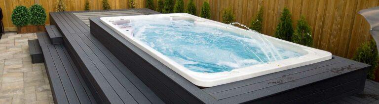 Hydropool Swim Spa Deck installation