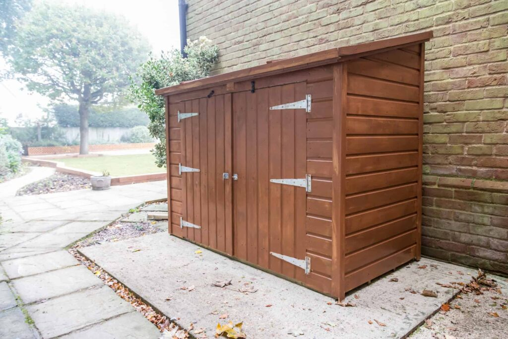 backyard storage for hot tub owners