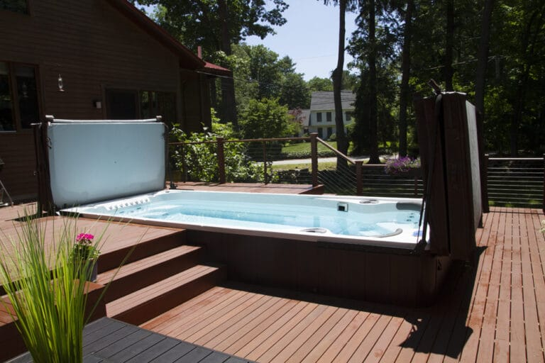 Hydropool Swim Spa with Cover Lifter
