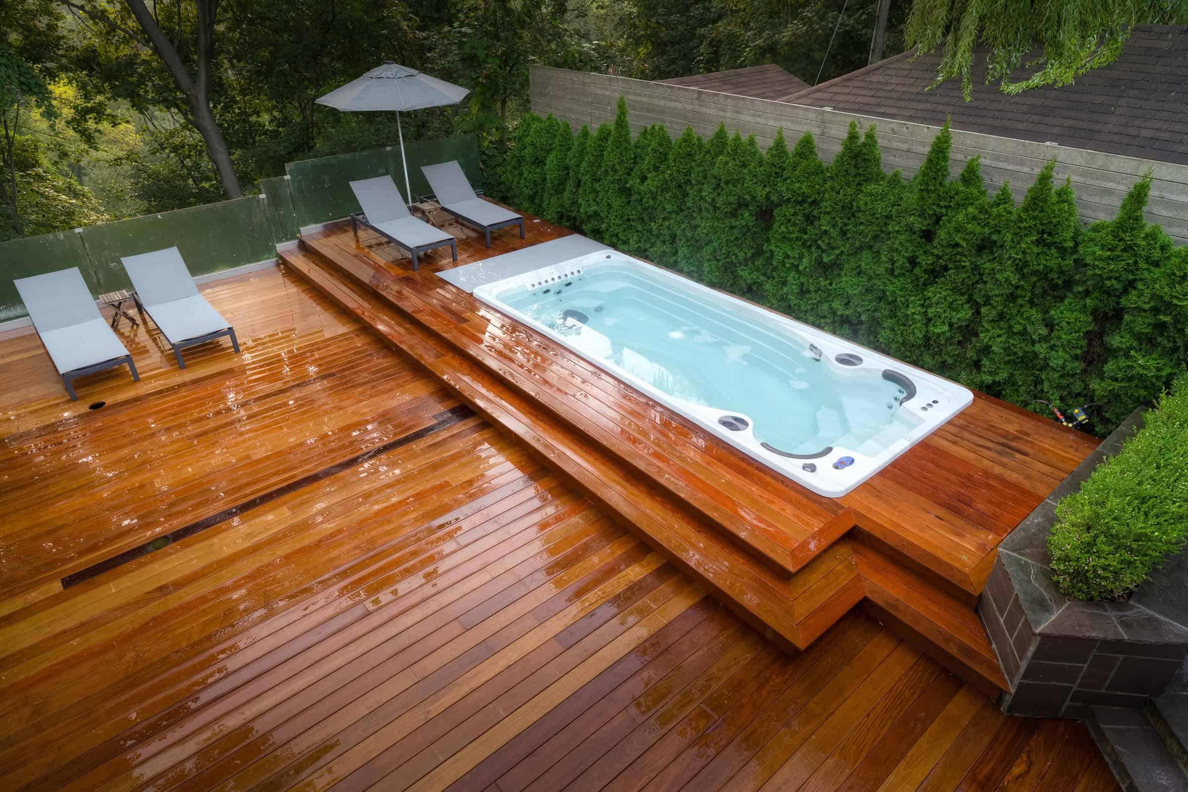 swim spa fitness components